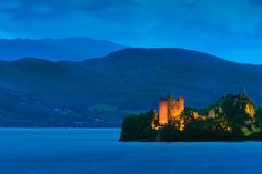 Urquhart Castle at Loch Ness in Strone, Scotland
