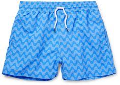 Frescobol Carioca Sidewalk Short-Length Printed Swim Shorts