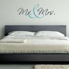 Mr & Mrs | Stickers Murali Adesivi Murali