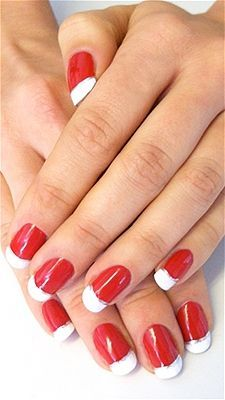 red nails white tips google search