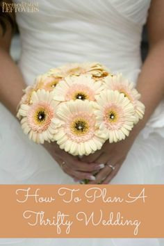 Frugal Tips for Planning a Thrifty Wedding- Here are some helpful DIY tips for planning a beautiful wedding on a tight budget.