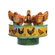 Corn Pecking Chickens