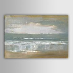 Hand-Painted Abstract Abstract Landscape Horizontal,Modern European Style One Panel Oil Painting For Home Decoration – USD $ 75.99