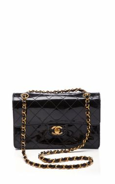 Chanel Black Patent 2.55 Bag by Vintage Chanel for Preorder on Moda Operandi on Wanelo $3500.00.