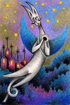 Fairy tale images - Crescent cat