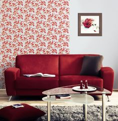 Papier peint design rétro motif floral fleurs EDEM 072-25 bleu turquoise blanc ocre doré   5,33 m2 – Bild 2