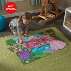 KidKraft Princess Castle Floor Puzzle - The KidKraft Princess Castle Floor Puzzle provides your little one a picture-perfect happily ever after. Puzzles, Picnic Blanket, Outdoor Blanket, Floor Puzzle, Princess Castle, Colorful Artwork, Sports Toys, Fun Challenges, Toys Online