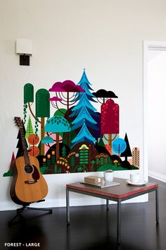 Imaginary Forest -- Take a trip to Patrick's Hruby magical forest in this vibrant wall decal. Available in 2 sizes.