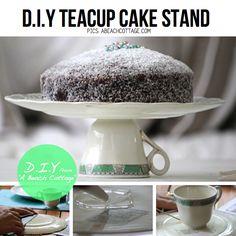 DIY Teacup Cake Stand