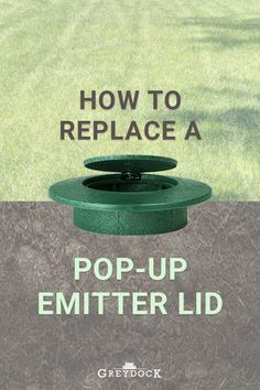 Pop-up emitters are a great solution for getting water away from your home, but if the lid is broken, they aren& much of a help. With spring-style lids, lawnmower blades can break off the top. A flap-style lid stays shut unless water is flowing out Yard Drainage, Landscape Arquitecture, Outside Storage, Drainage Solutions, Yard Care, Jealous Of You, Water Management, Replant, Spring Style