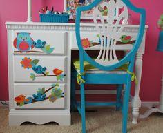 Makin' it on Monday: Cute Desk - Hoot Hoot - A Sunday Afternoon