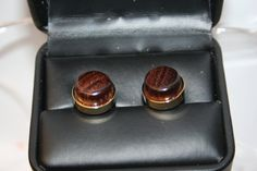 Handcrafted Granadillo Hardwood 24 ct Gold Plated Cuff Links by Witmer Enterprises, $21.99 at witmerenterprises.com and also @Etsy