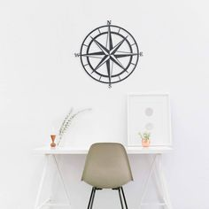 Not all who wander are lost!   #HomeDecor #Nautical #Compass #WallArt #Etsy