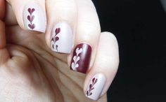 More valentines hearts with Barry M Matte