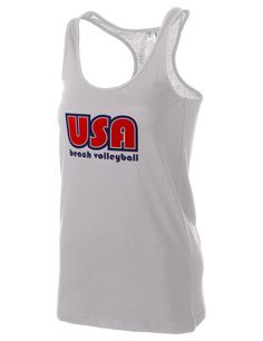 United States of America District Women's Racerback Tank Usa Volleyball, Team Usa, Red White Blue, Racerback Tank, Usa Apparel, Athletic Tank Tops, Sportswear, United States, America