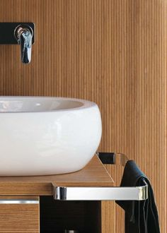 Wooden Bathroom Cabinets and Oval Sanitary Ceramics by Pozzi-Ginori