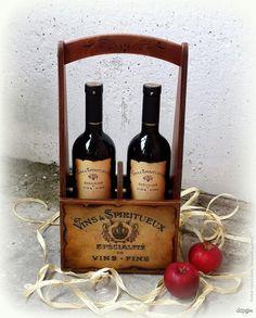Декупаж - Сайт любителей декупажа - DCPG.RU | 15 июля-22 августа 2015 г. : Тематическая линия заготовок «Короба, подставки и упаковка для вина»
