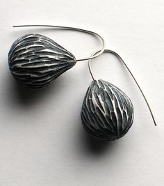 Pod earrings by jibby and juna, via Flickr