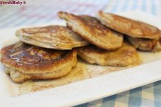Zimt-Pancakes - FreshBaby & Family Crepes, Finger Foods, Pancakes, French Toast, Breakfast, Baby, Creme Egg Cake, Cinnamon, Bakken