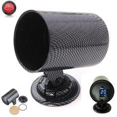 Universal Black 52mm Carbon Fiber GaugE-mount Bracket Holder Pod Single Hole