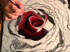Art Lesson: How to Paint a Rose with a Twist using Acrylic Paint - YouTube