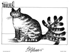 Anyone who has known a cat, knows this to be true!  (I know this is a cartoon, but it's pretty close to an art form!)
