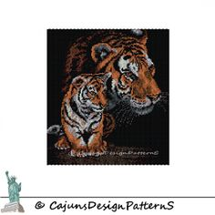 On SaLe TIGER and CUBPeyote 2 by CajunsDesignPatternS on Etsy, $7.95