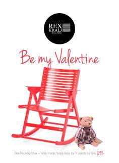 Rex Rocking Chair & hand made Teddy Bear by V.Valioti