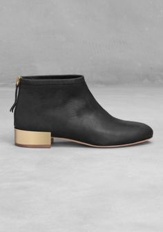 Metal Detail Ankle Boots | Black