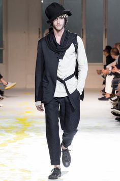 See all the Collection photos from Yohji Yamamoto Spring/Summer 2015 Menswear now on British Vogue