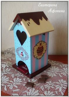 """Купить Чайный домик """"Зефир в шоколаде"""" - голубой, чайный домик, чайный домик декупаж, кухня"""