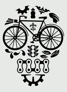 Bicycle decal reflective sticker for your bike bike by speakstick