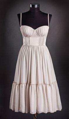 Gathered vintage stye dress