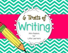 Writing6 Traits of Writing PostersThis set of mini-posters for the primary classroom will help your students focus on the 6 Traits of Writing. The writing process may be complex at times...but these posters will help your students *sparkle* as emerging writers.