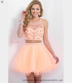 98def190c733b 2015 Delightful Halter Sheer Open-back A-line Princess Mini Short Organza  Homecoming Dress