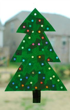 Lighted Christmas Tree Craft - In Lieu of Preschool