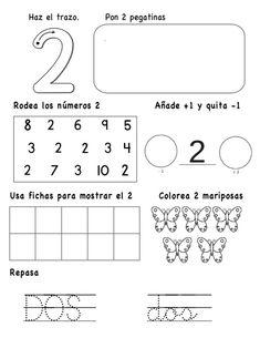 numeros-hasta-el-10-2-638 Math 4 Kids, Kindergarten Math Activities, Math Literacy, Preschool Worksheets, Spanish Lessons For Kids, Learning Spanish, Simple Math, Pre Writing, Home Schooling
