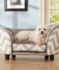 Look what I found on #zulily! Gray Zigzag Snuggle Sofa Pet Bed by Enchanted Home Pet #zulilyfinds