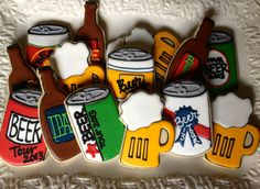 Let's Drink Beer Sugar Cookie Collection by NotBettyCookies, $38.00