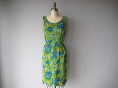 Vintage watercolour chiffon dress.Only US$20 but teeny weeny :(