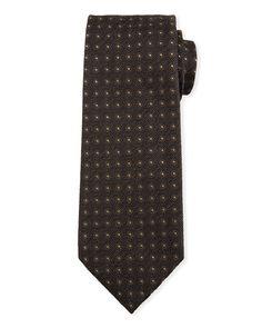 Tom Ford Neat Circle Silk-wool Tie In Brown Wool Tie, Silk Wool, Tom Ford Ties, Touch Of Gray, Luxury Fashion, Mens Fashion, Circle Pattern, Neiman Marcus, Brown