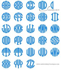 Striped Circle Alpha - 5 inch to 7.5 inch Embroidery Boutique