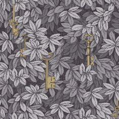 Papier peint forêt gris Chiavi Segrete - Cole and Son - Au fil des Couleurs