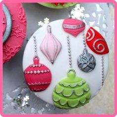 Katy Sue Designs award winning manufacturers and designs of imaginative craft and cake decorating products Christmas Cake Designs, Christmas Cake Decorations, Christmas Cupcakes, Iced Cookies, Cupcake Cookies, Christmas Cookies, Decorate Your Own Cake, Cookie Decorating Icing, 21st Birthday Cakes