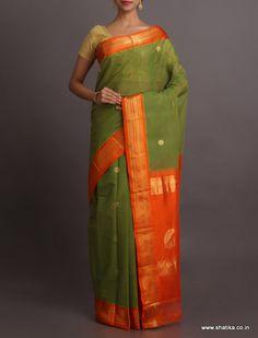Nalini Unique Color Combination Smart #GadwalCottonSaree