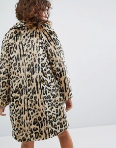 This winter, pair a leopard faux fur coat with hoodie and jeans