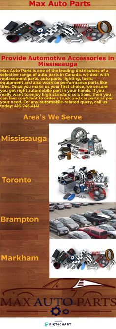 Max Auto Parts is one of the leading distributors of a selective range of auto parts in Canada. we deal with replacement parts, auto parts, lighting, tools, equipment and also work on performance parts like tires. Once you make us your first choice, we ensure you get right automobile part in your hands. If you really want to enjoy high standard solutions, then you can feel confident to order a truck and car parts as per your need. For any automobile-related query, call us today: 416-746-4141