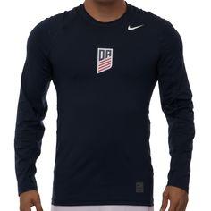 Men's Nike U.S. Soccer Development Academy LS Pro Cool Top - Navy