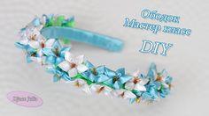 Ободок с колокольчиками Канзаши. МАСТЕР КЛАСС / Headband Flower of ribbo...