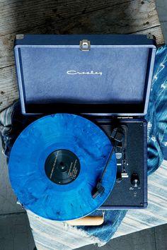 Crosley - Tourne-disque Cruiser bleu marine avec prise européenne